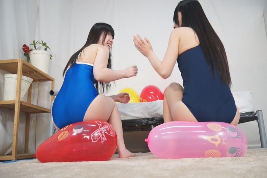 【HD】ニャンニャン娘の風船プレイ絶頂祭 サンプル画像01