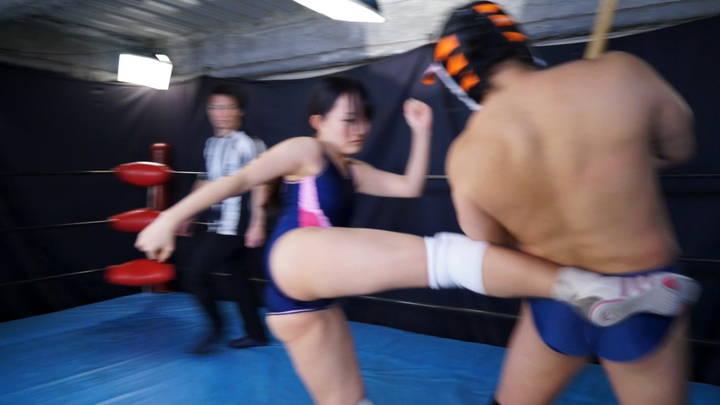 悪役レフェリー男子びいきプロレス Vol.9 サンプル画像01