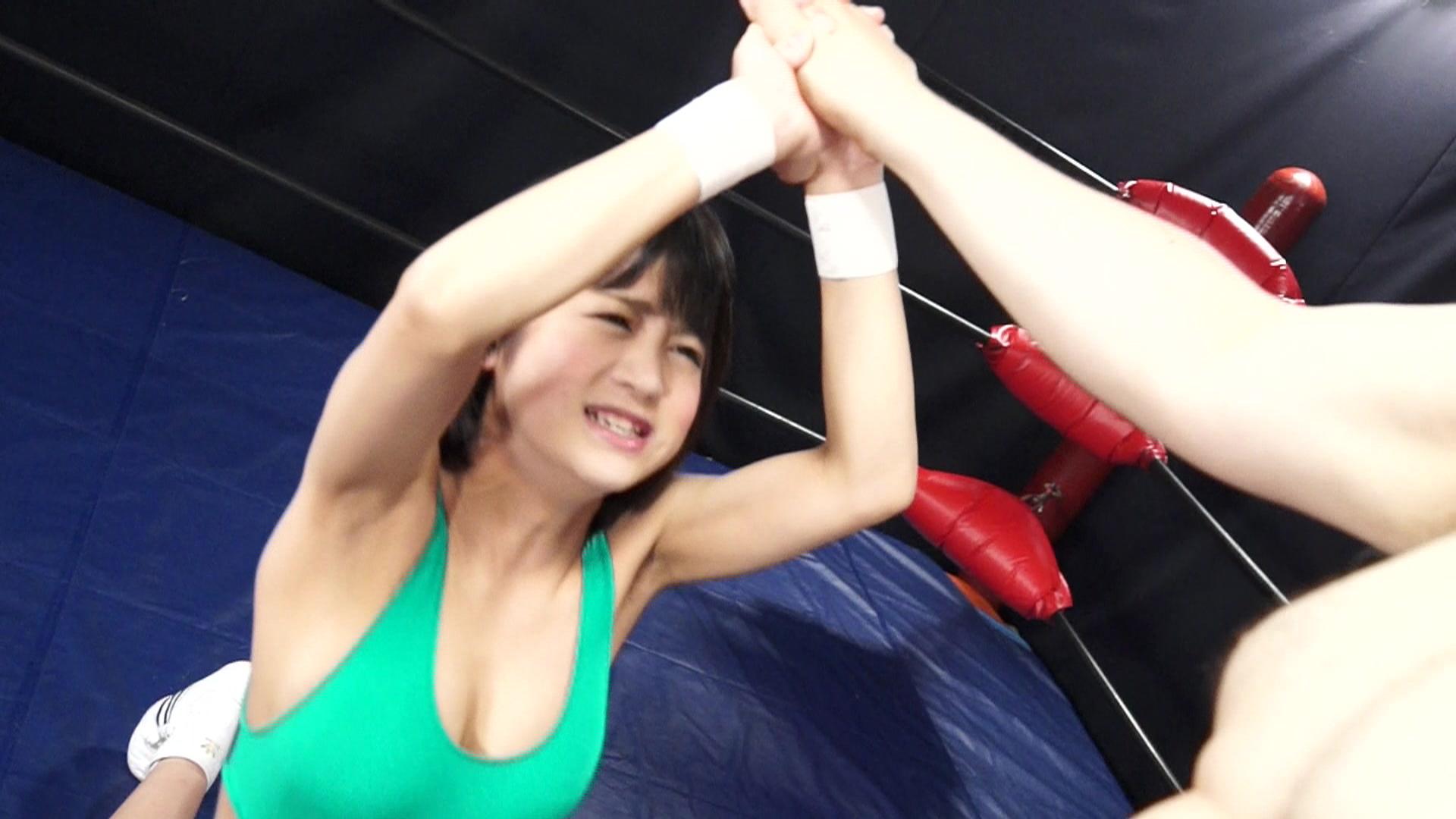 秘密の男女混合試合 女子レスラー完全敗北 vol.1 サンプル画像04