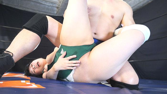 女子レスラー全裸屈辱MIX 8 - 引き裂かれたリングコスチューム - サンプル画像05