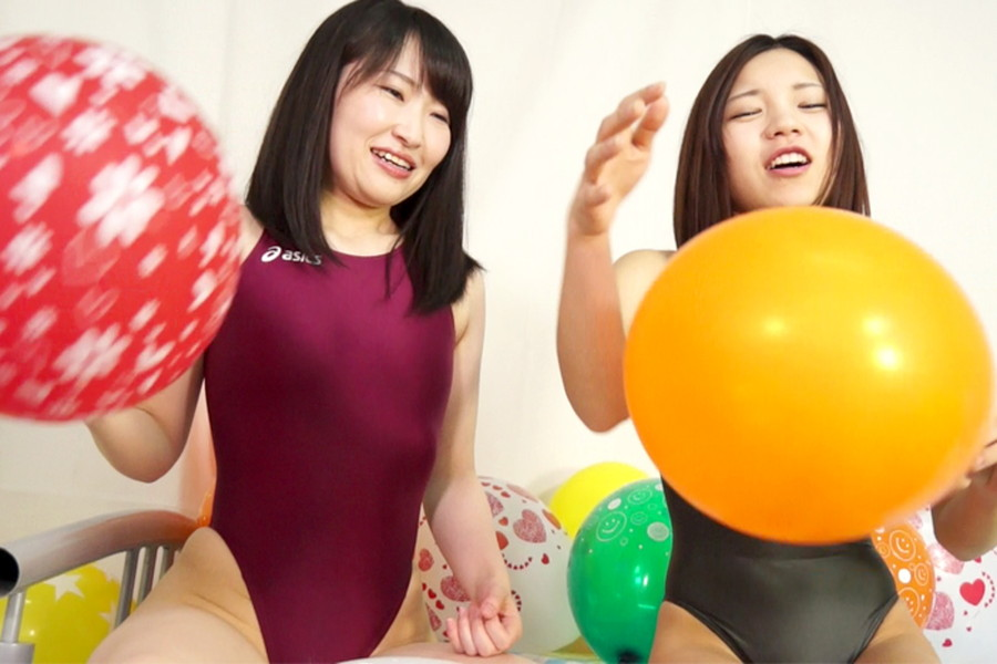 【700ptsOFF!】【HD】中川絢音と安達メイの風船ファンタジー サンプル画像03
