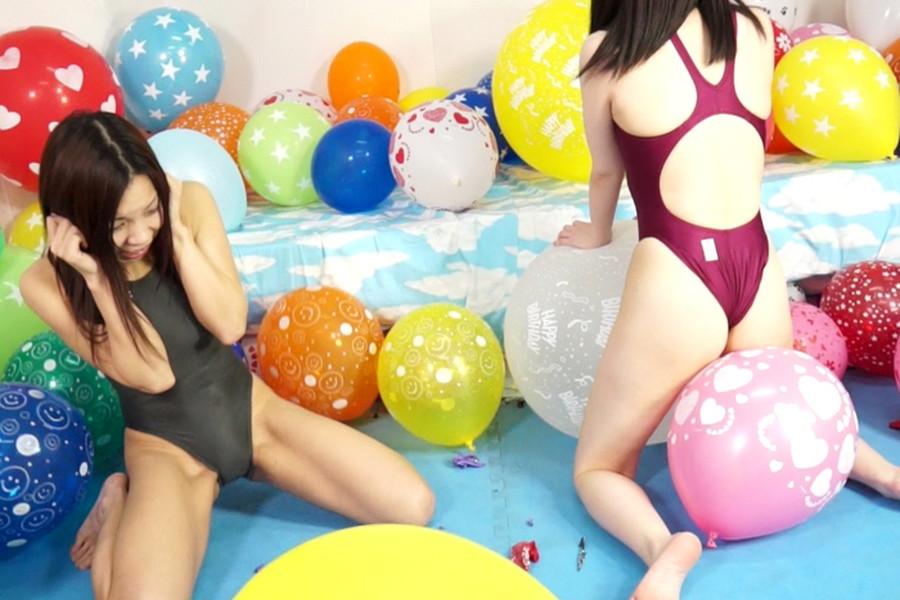 【700ptsOFF!】【HD】中川絢音と安達メイの風船ファンタジー サンプル画像10