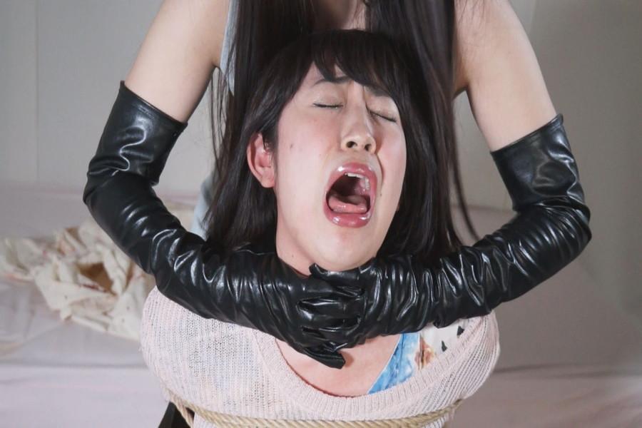 黒革手袋のレズビアン 首絞め拷問責め2 サンプル画像09