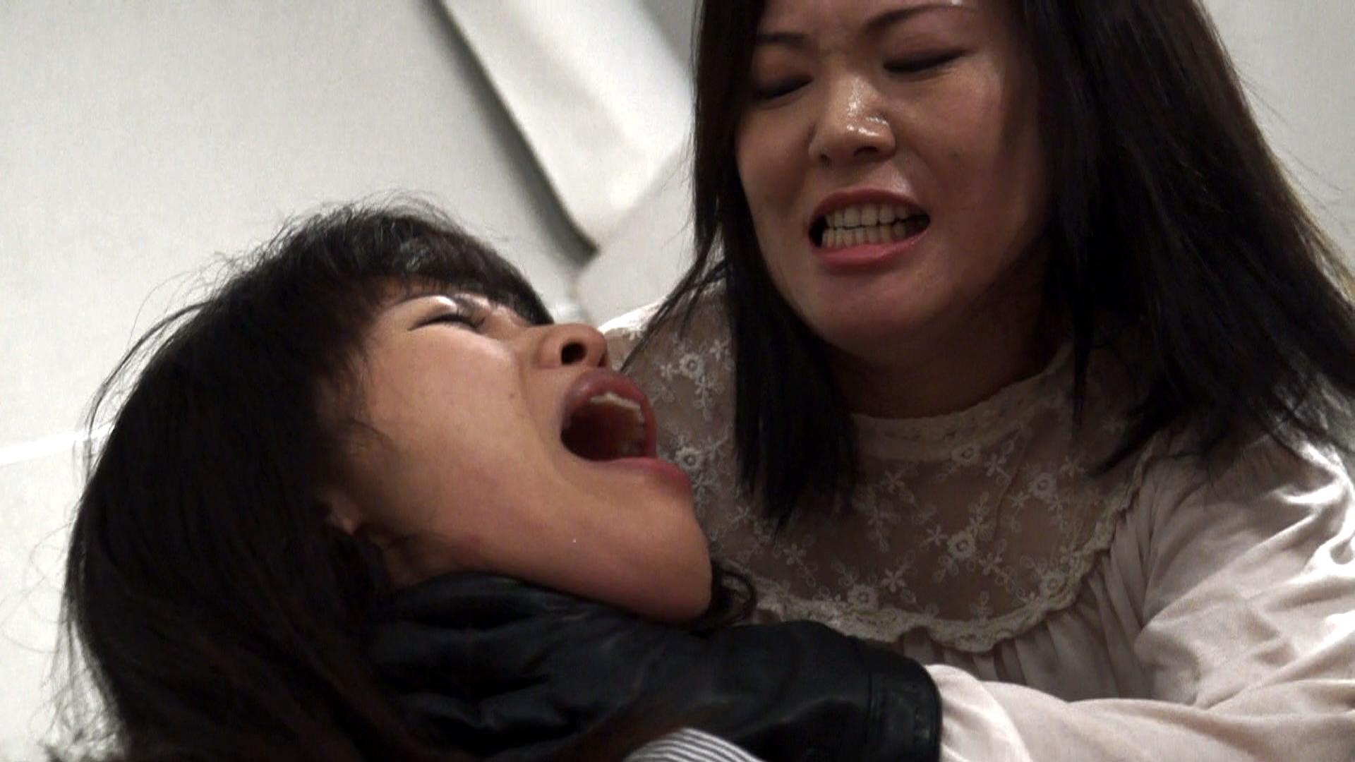 【HD】黒革手袋のレズビアン首絞め淫辱百合責め 2 サンプル画像05