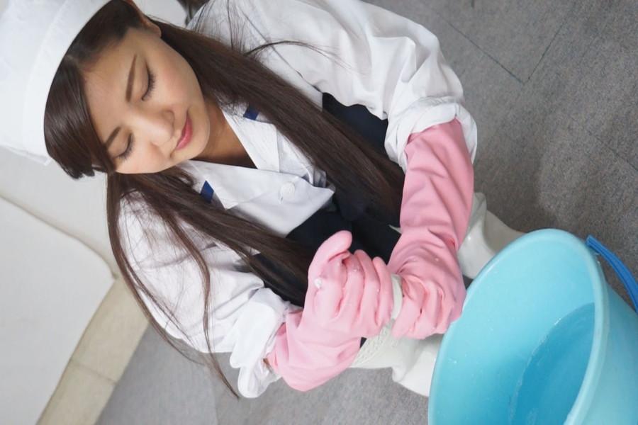 炊事用ゴム手袋のおばさん ゆいか33歳 サンプル画像02