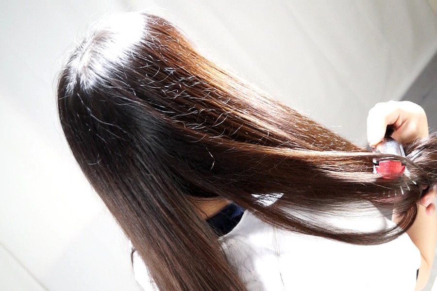 黒髪少女七菜原ココ 恋するロングヘアー サンプル画像03