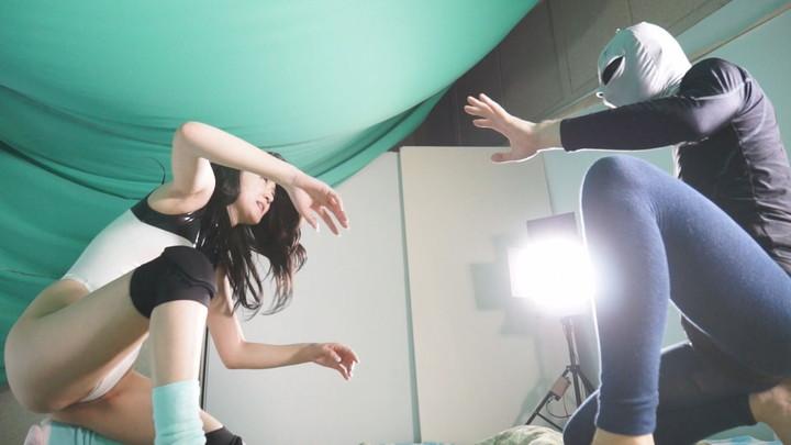 女子プロレス 男対決 武井モナ 個人撮影