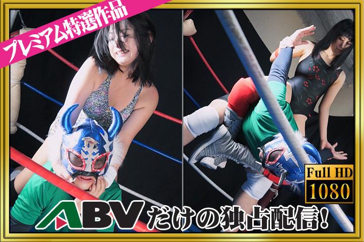 夏目エレナ・篠宮桜良がプロレス技を一方的にかける!! DVD パッケージ 画像