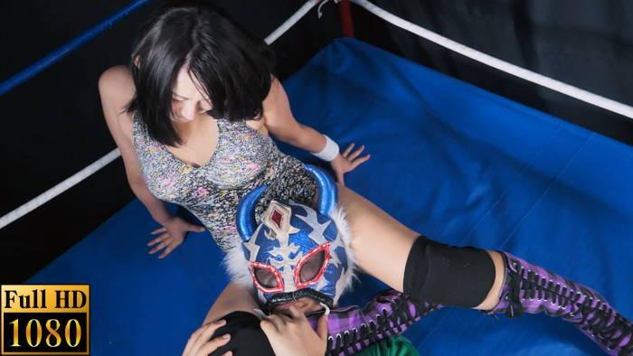 女子プロレス 男対決 ミックスキャットファイト 篠宮桜良 ハイキック