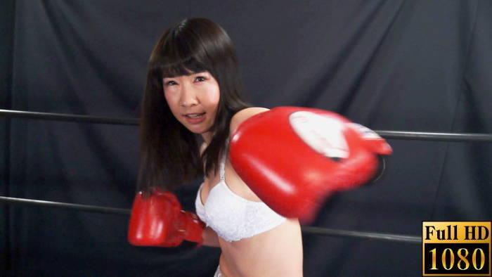 ミックスボクシング 新垣ひとみ 左ストレート