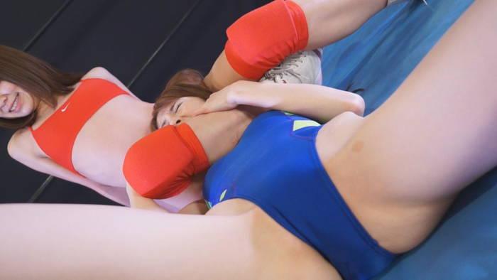 女子プロレス キャットファイト 美女 秋山ゆう  水城えま