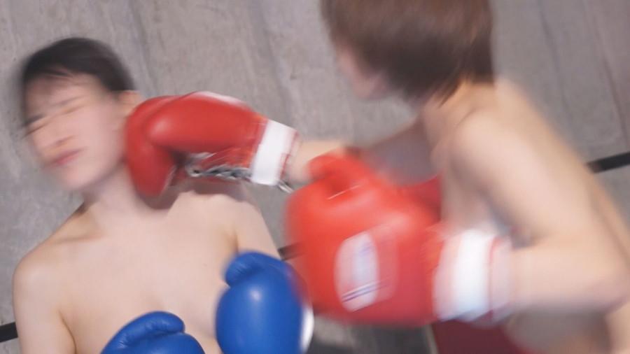 女子ボクシング 今井まい  志田雪奈 トップレスボクシング 美乳
