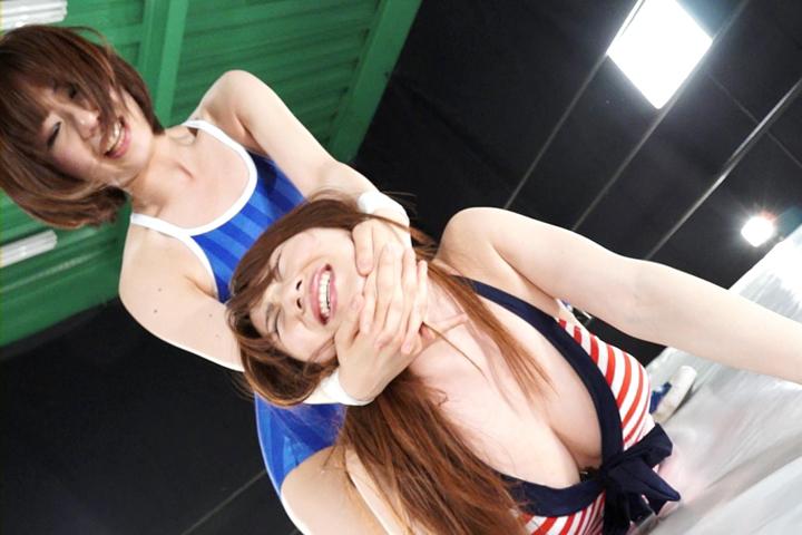プロレス 女子大生グラドル 吉田早希vs吉原麻貴 本格格闘女優