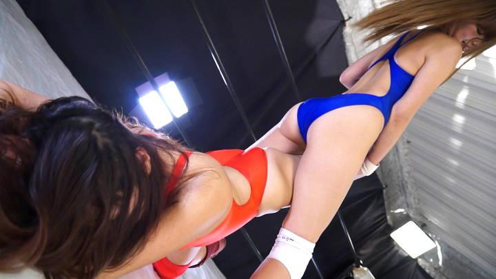 プロレス 現役アイドル 白いん子vs秋野絵美