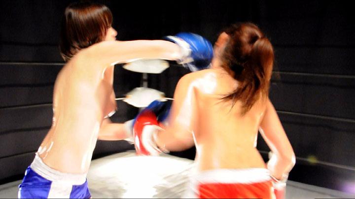 ボクシング対決 富永萌 可愛りん 右ストレート