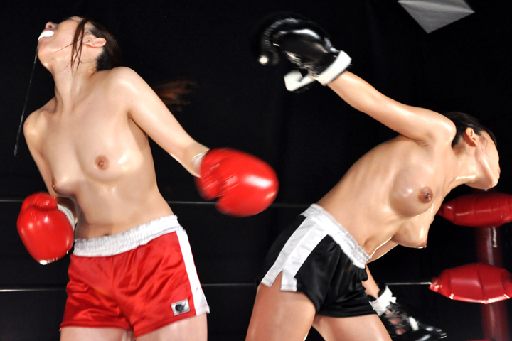 美女ボクサー トップレス  南嶋ナミ 水沢真樹 カウンター