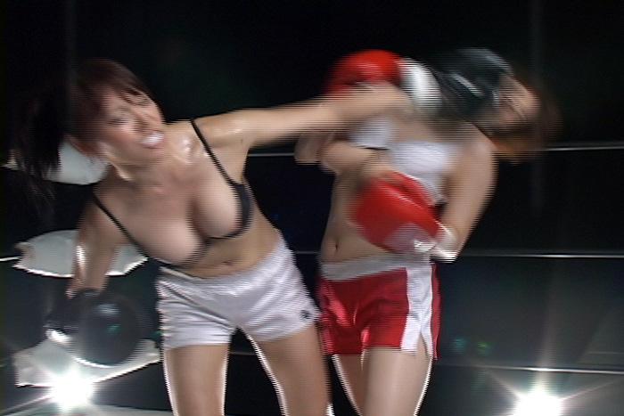 女子ボクシング エロボディ 八田祥子  七葉しほり 左ストレート
