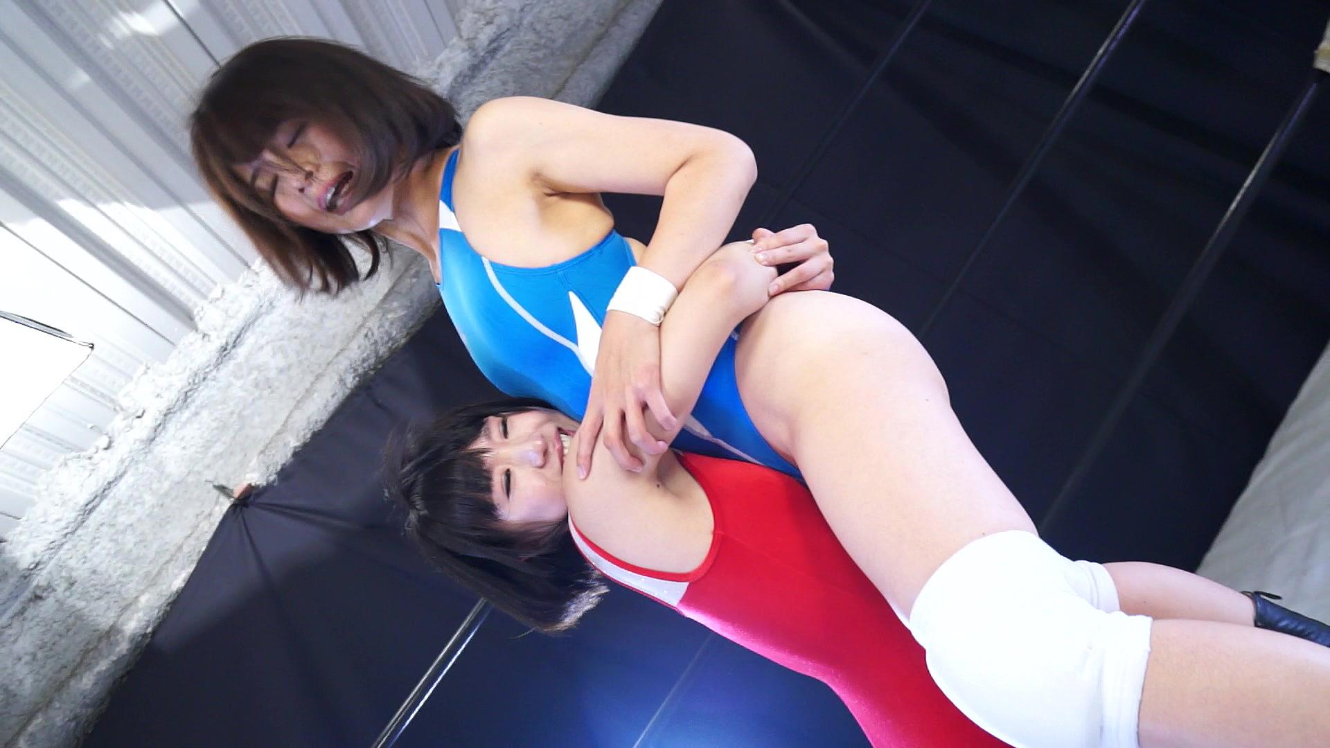 キャットファイト 女子プロレス  さくらここる 椎名ゆうき 新人レスラー 反則攻撃