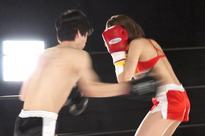 ミックスボクシング 瞳りん 腹パンチ