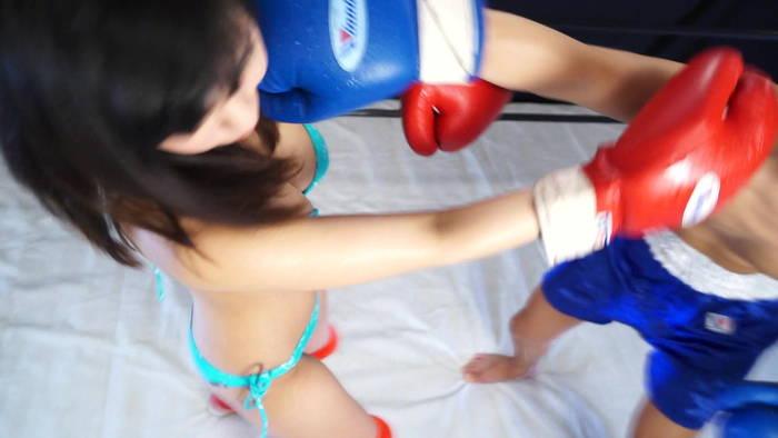 ミックスボクシング 逢沢るる クロスカウンター 男対決