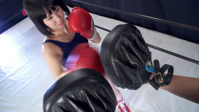 スクール水着 美少女ボクサー エロボクシング さくらここる トレーニング