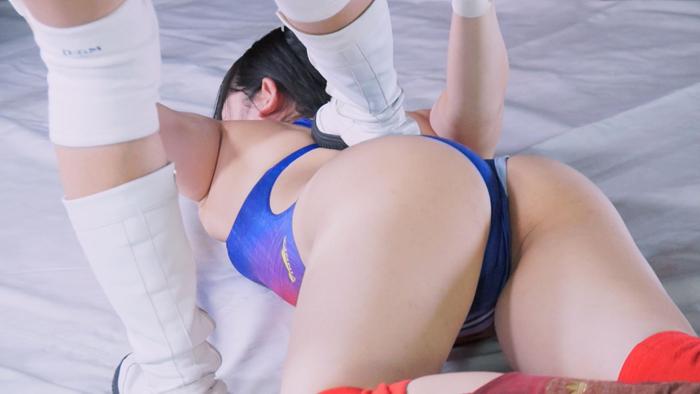 女子プロレス 宮崎あや 今井ゆあ 白い水着 団体対抗