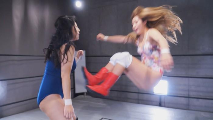 女子プロレス キャットファイト 山岡りりな 揚羽