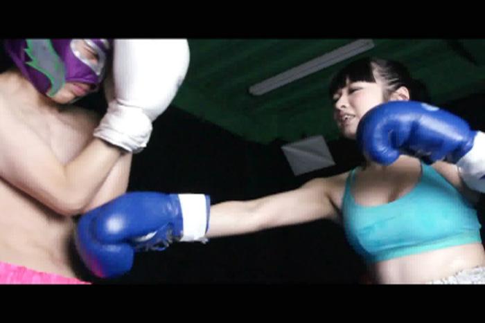 女子ボクシング 腹パンチ 小林しおり 右ストレート
