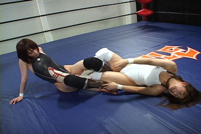 女子プロレス  キャットファイト 中居ちはる B-1トーナメント 渥美イオン 足関節技