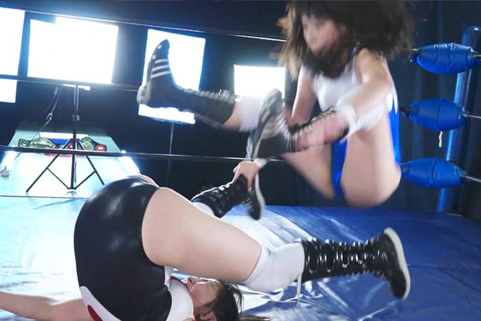 プロレレス技 女子レスラー 巨乳 新垣ひとみ 遥めぐみ
