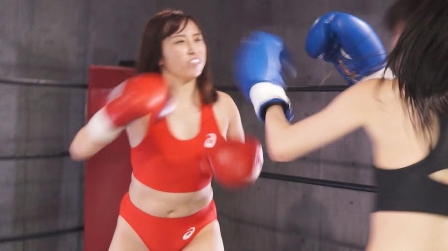 女子ボクシング 咲坂花恋  葉月もえ 美女