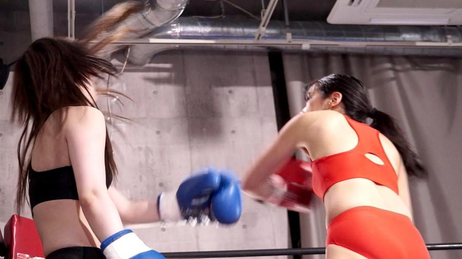 女子ボクシング 咲坂花恋  若月まりあ