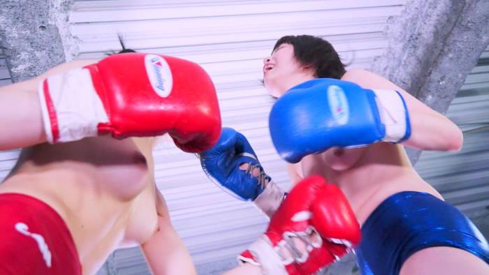 女子ボクシング 夏川ひまり  椎名華  おっぱい丸出し
