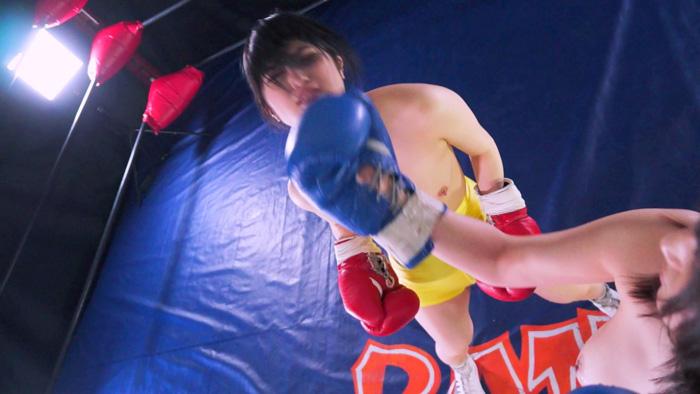 女子ボクシング トップレス 神楽アイネ 成海夏季 アッパーカット