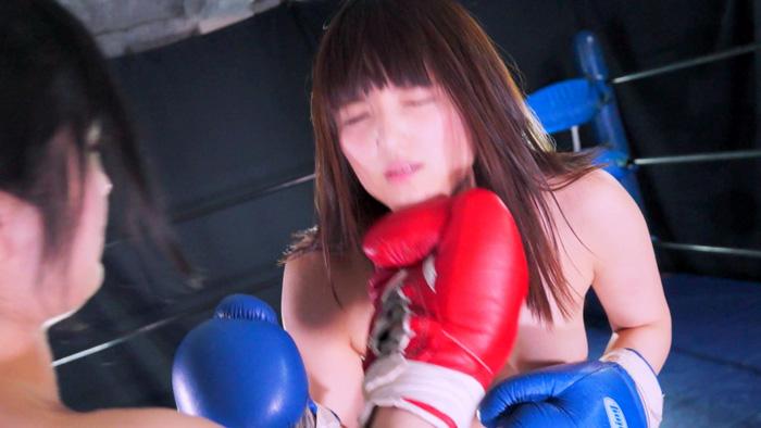 女子ボクシング 成海夏季 アッパー 巨乳