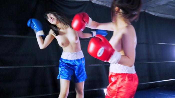 女子ボクシング フェチ視点 川崎亜里沙  松岡香純