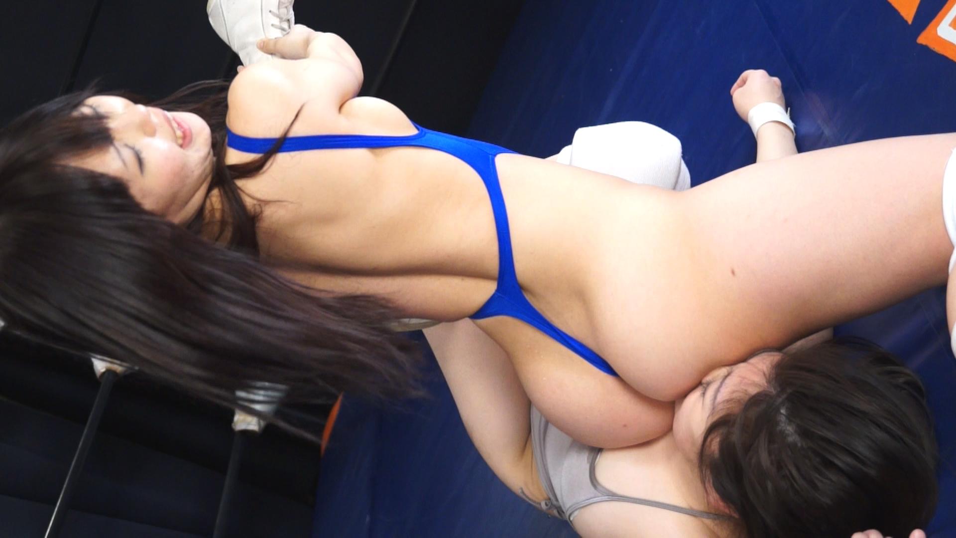 キャットファイト 女子プロレス  広瀬りほ エロボディ 星野七海 ロリ娘