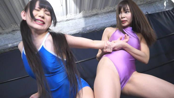 キャットファイト 女子プロレス  小西まりえ 七海りこ 関節技