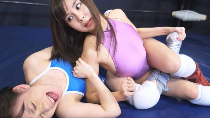 バトル  女子プロレス 七海りこvs小西まりえ ロリ系