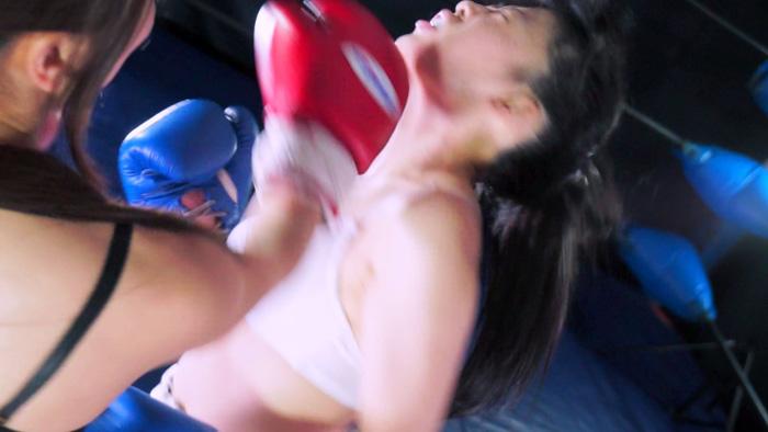 女子ボクシング 仁美まどか  南瀬奈 左アッパーカット