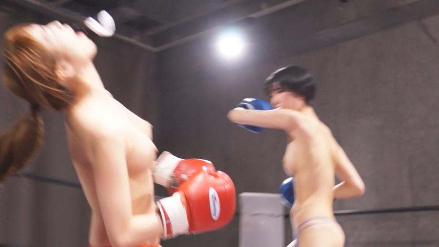 女子ボクシング 早乙女らぶ  東条蒼 トップレスボクシング 美乳