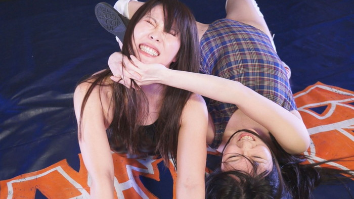 女子プロレス キャットファイト 夢乃美咲  江口ゆな チョーク攻撃