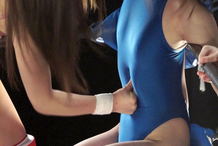 女子プロレス 腹パンチ 美女レスラー ファイティングガールズ 小泉ミツカ 夏来みあ
