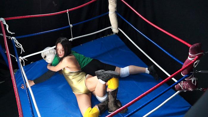 女子プロレス 男対決 技かける M格闘 赤木ゆう