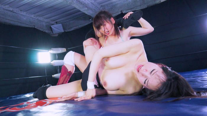 女子プロレス キャットファイト   松岡香純 悶絶