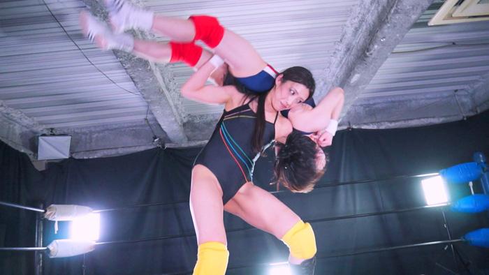 女子プロレス  キャットファイト 鈴屋いちご 神納花 格闘女王