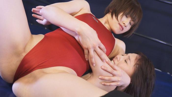 女子プロレス キャットファイト  江上しほ 日高結愛 ヘッドロック