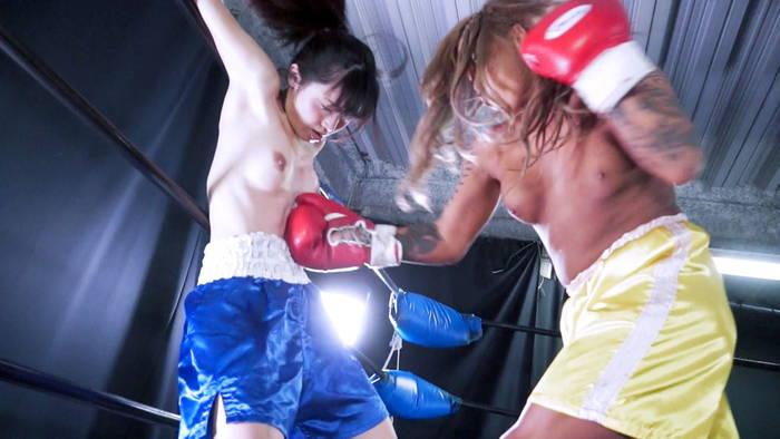 女子ボクシング YUNI  苑田あゆり ドミネーション 腹パンチ
