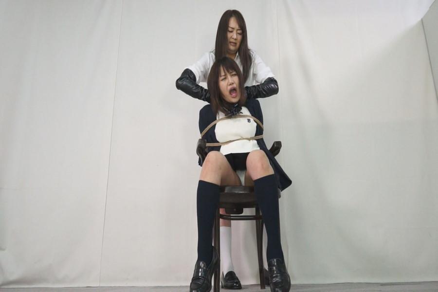 【700ptsOFF!】黒革手袋のレズビアン 首絞め拷問責め5 サンプル画像03